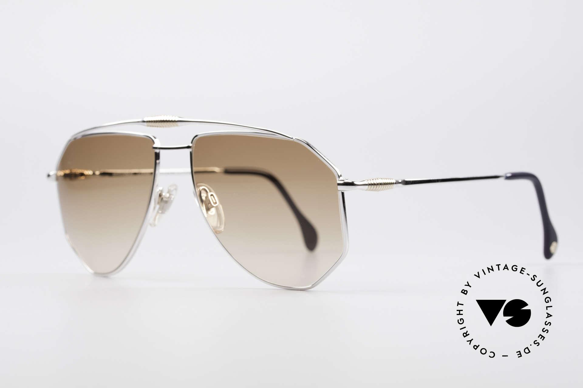 Zollitsch Cadre 120 Large 80er Sonnenbrille, interessante Alternative zur gewöhnlichen Pilotenform, Passend für Herren