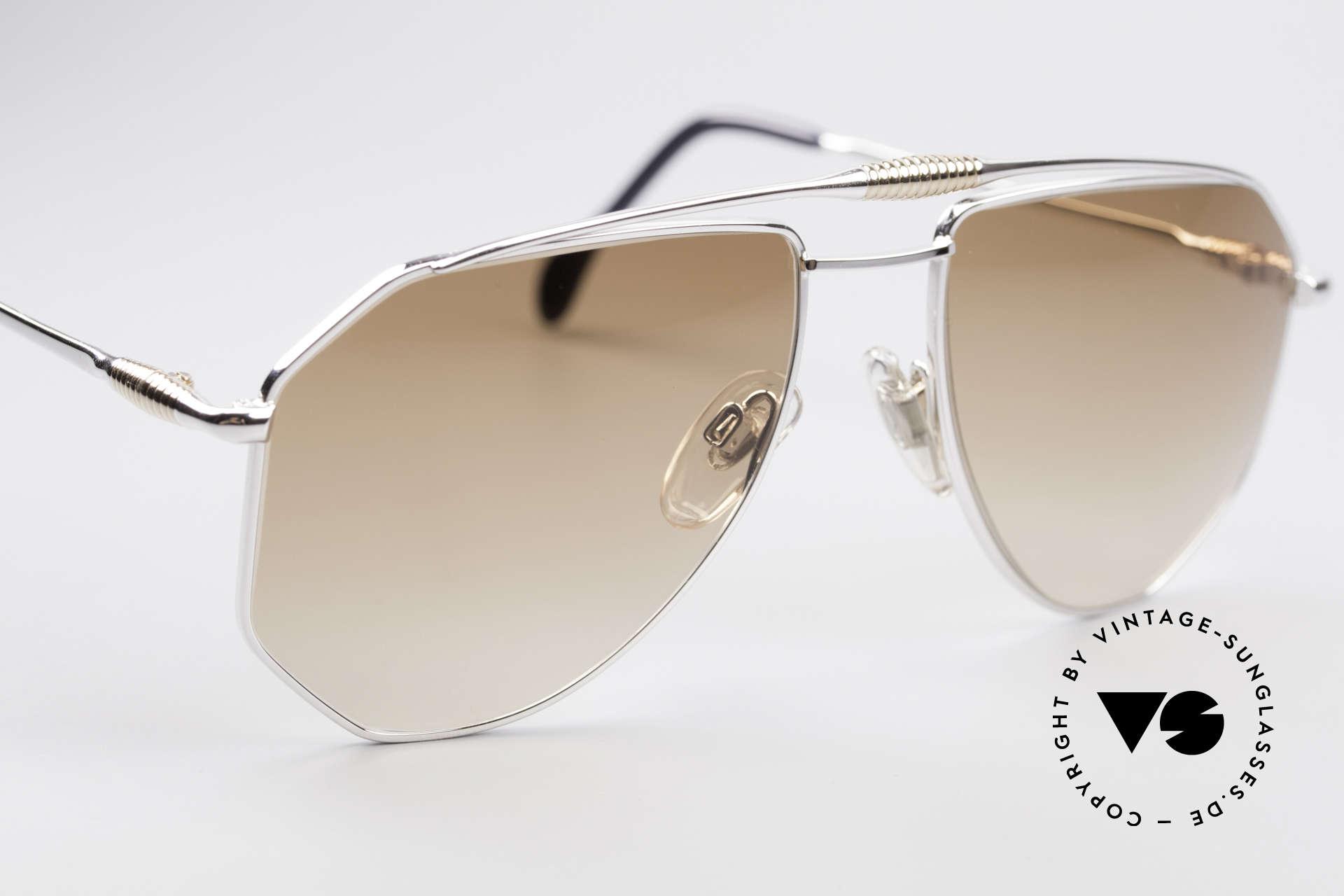 Zollitsch Cadre 120 Large 80er Sonnenbrille, KEINE Retrobrille; ein 30 Jahre altes Unikat, Gr. 58°18, Passend für Herren