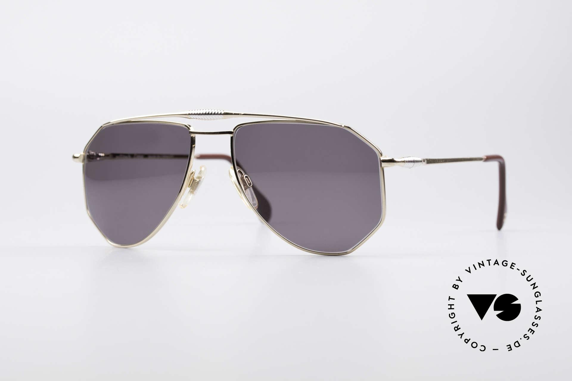 Zollitsch Cadre 120 Medium Aviator Sonnenbrille, vintage Zollitsch Sonnenbrille aus den späten 1980ern, Passend für Herren