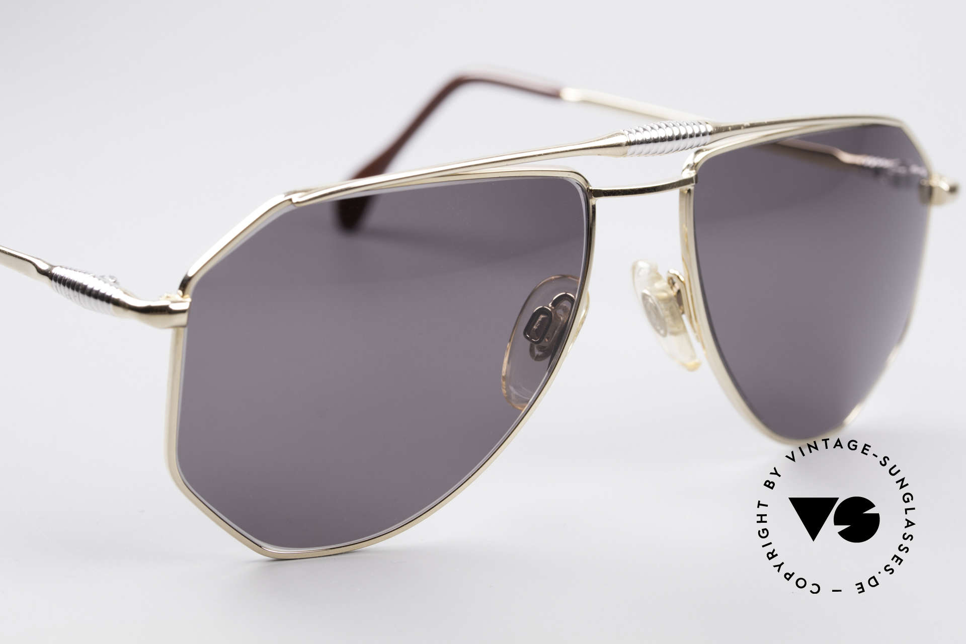 Zollitsch Cadre 120 Medium Aviator Sonnenbrille, KEINE Retrobrille; ein 30 Jahre altes Unikat, Gr. 56°18, Passend für Herren