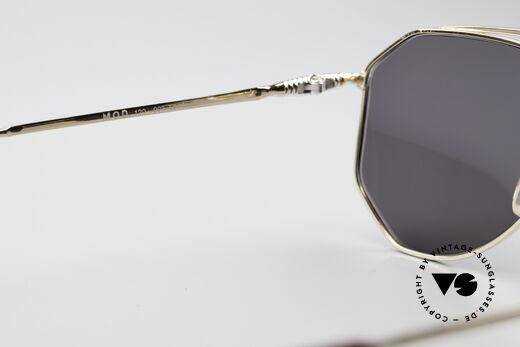 Zollitsch Cadre 120 Medium Aviator Sonnenbrille, goldene Fassung mit grauen Sonnengläsern (100% UV), Passend für Herren