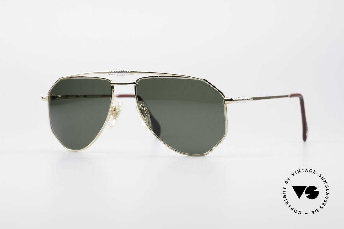 Zollitsch Cadre 120 Medium Piloten Sonnenbrille, vintage Zollitsch Sonnenbrille aus den späten 1980ern, Passend für Herren