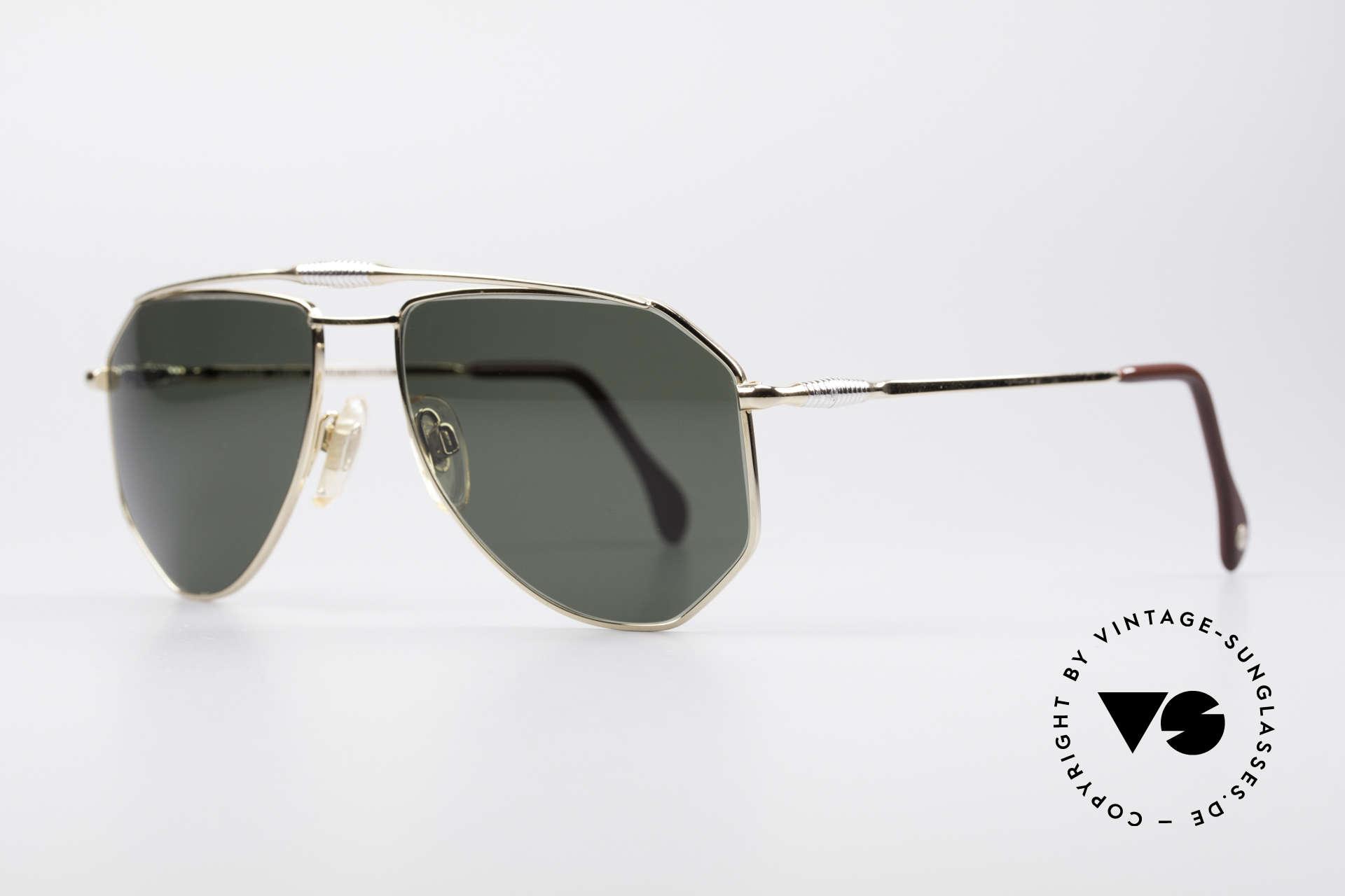 Zollitsch Cadre 120 Medium Piloten Sonnenbrille, interessante Alternative zur gewöhnlichen Pilotenform, Passend für Herren