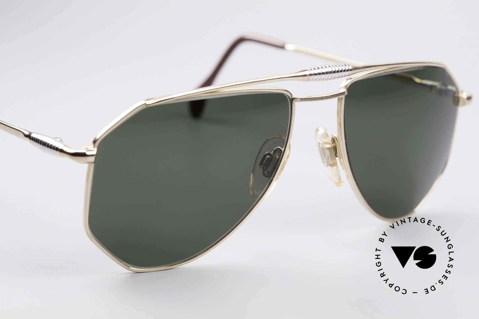 Zollitsch Cadre 120 Medium Piloten Sonnenbrille, KEINE Retrobrille; ein 30 Jahre altes Unikat, Gr. 56°18, Passend für Herren