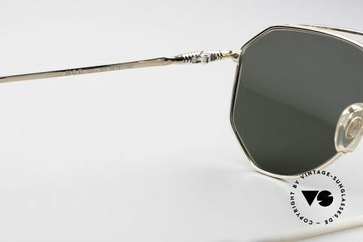 Zollitsch Cadre 120 Medium Piloten Sonnenbrille, goldene Fassung mit grünen Sonnengläsern (100% UV), Passend für Herren