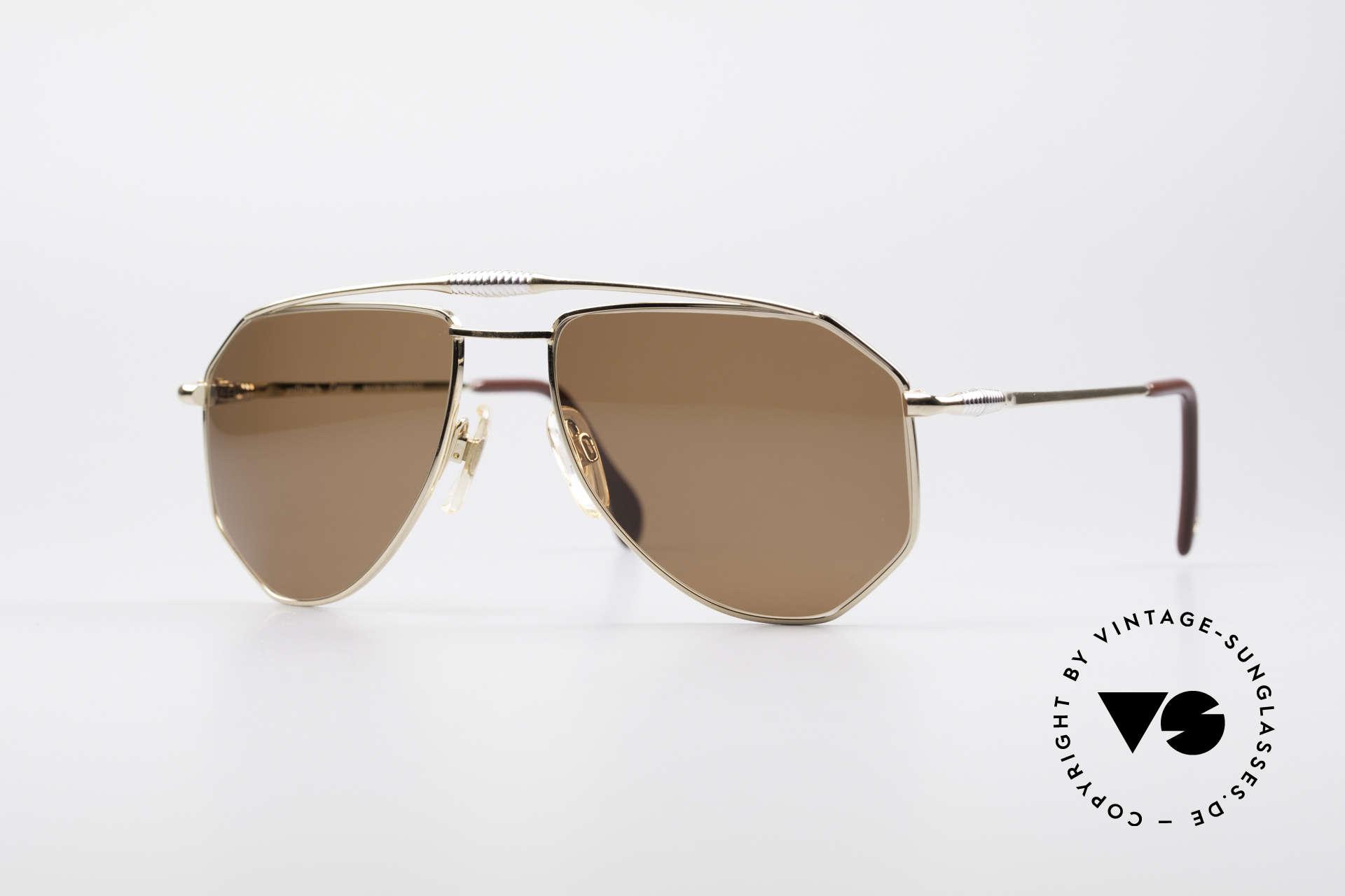 Zollitsch Cadre 120 Medium 80er Sonnenbrille, vintage Zollitsch Sonnenbrille aus den späten 1980ern, Passend für Herren