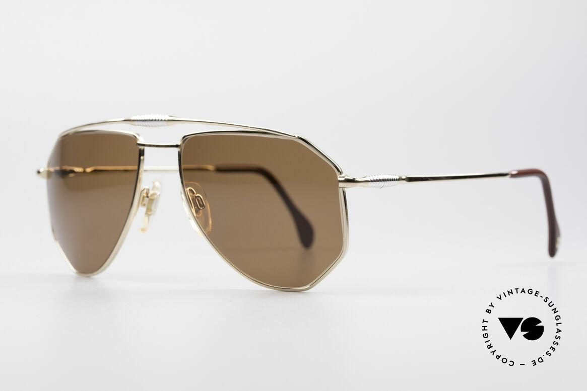 Zollitsch Cadre 120 Medium 80er Sonnenbrille, interessante Alternative zur gewöhnlichen Pilotenform, Passend für Herren