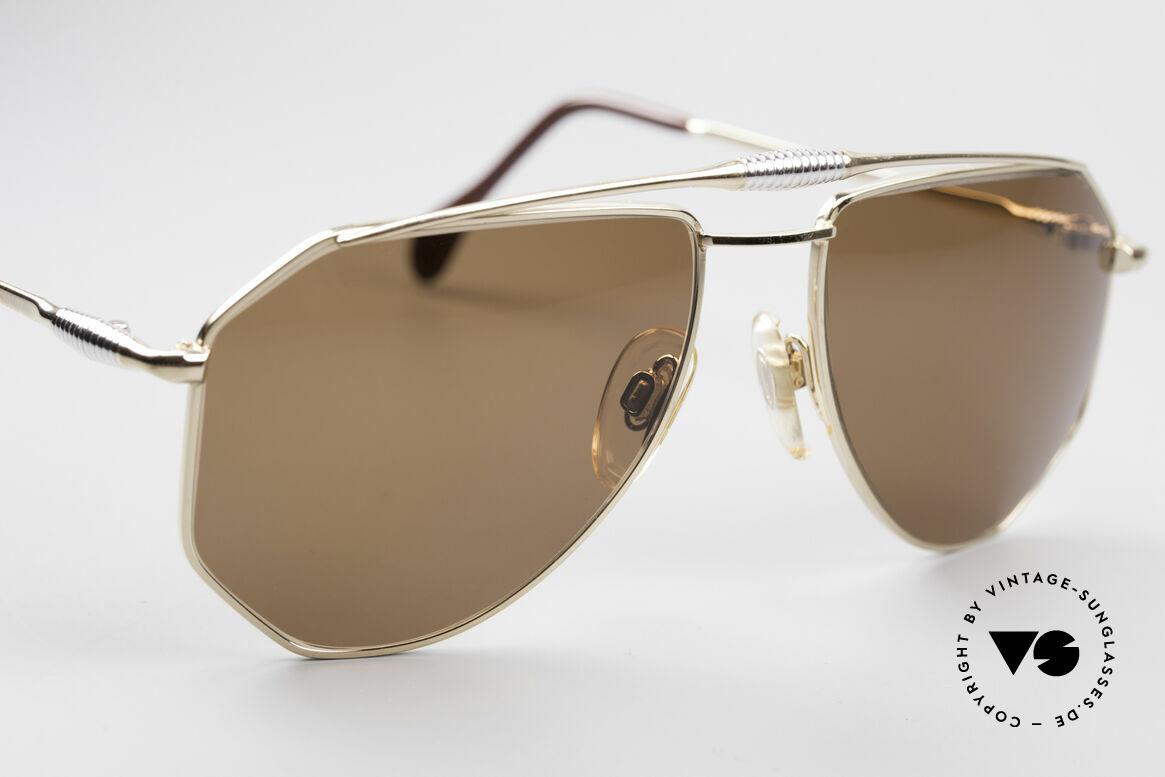 Zollitsch Cadre 120 Medium 80er Sonnenbrille, KEINE Retrobrille; ein 30 Jahre altes Unikat, Gr. 56°18, Passend für Herren
