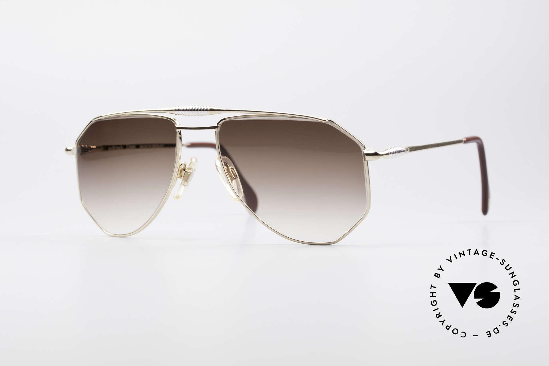 Zollitsch Cadre 120 Medium 80er Vintage Brille, vintage Zollitsch Sonnenbrille aus den späten 1980ern, Passend für Herren