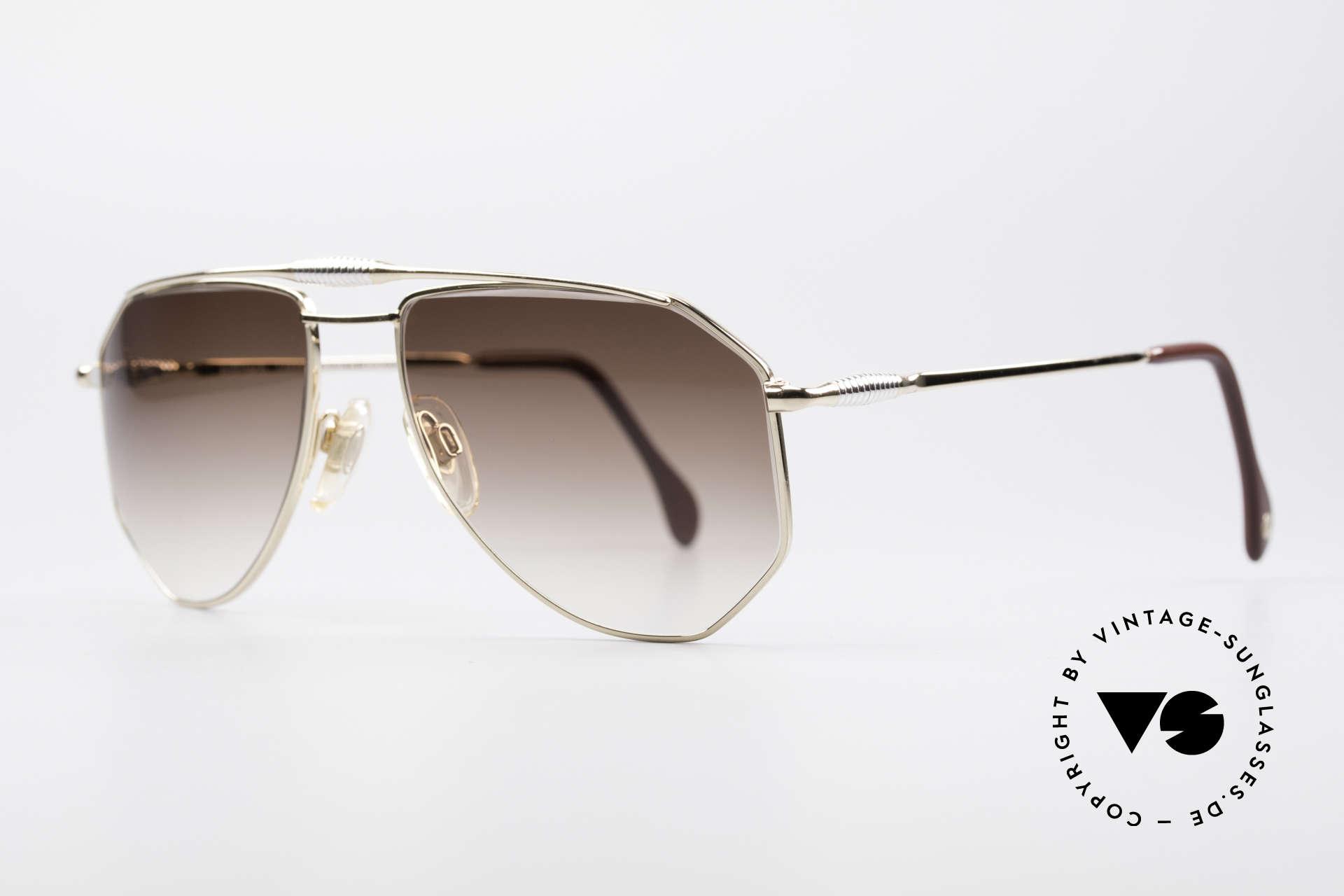 Zollitsch Cadre 120 Medium 80er Vintage Brille, interessante Alternative zur gewöhnlichen Pilotenform, Passend für Herren
