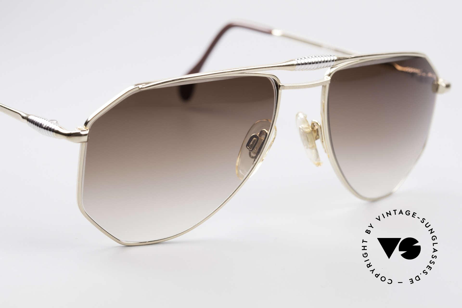 Zollitsch Cadre 120 Medium 80er Vintage Brille, KEINE Retrobrille; ein 30 Jahre altes Unikat, Gr. 56°18, Passend für Herren