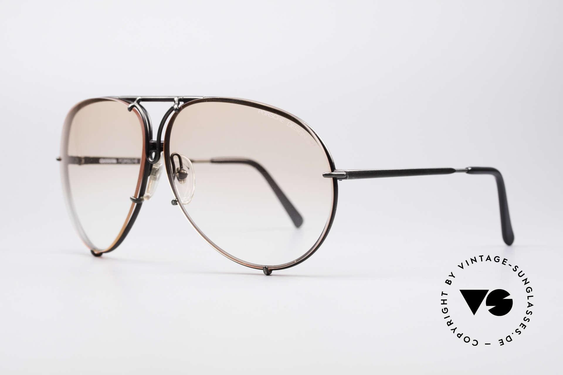 Porsche 5621 Seltene 80er XL Pilotenbrille, die 80er Legende mit den auswechselbaren Gläsern, Passend für Herren
