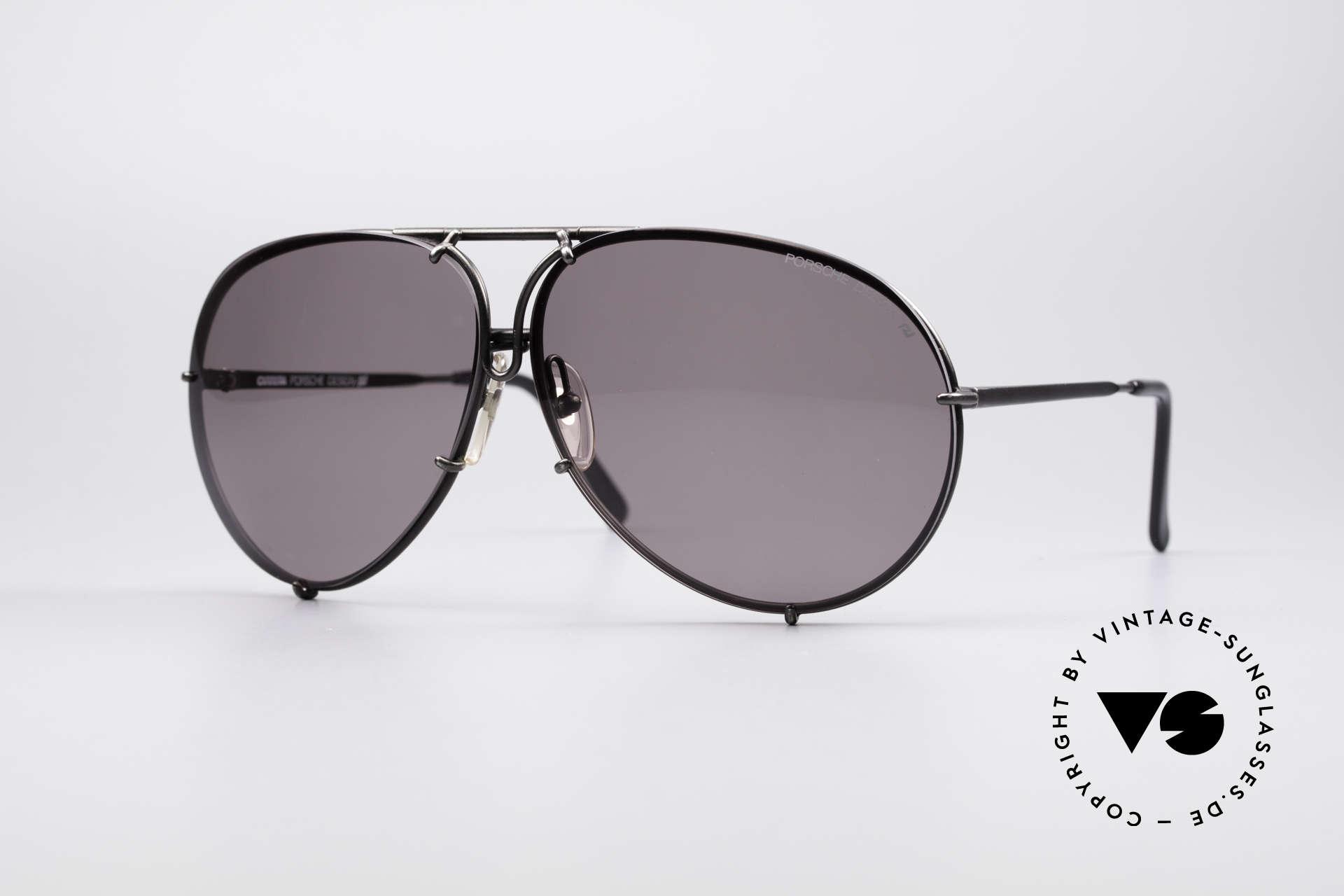 Porsche 5621 Seltene 80er XL Pilotenbrille, orange Gläser mit kleinen Kratzern; Rest tadellos!, Passend für Herren