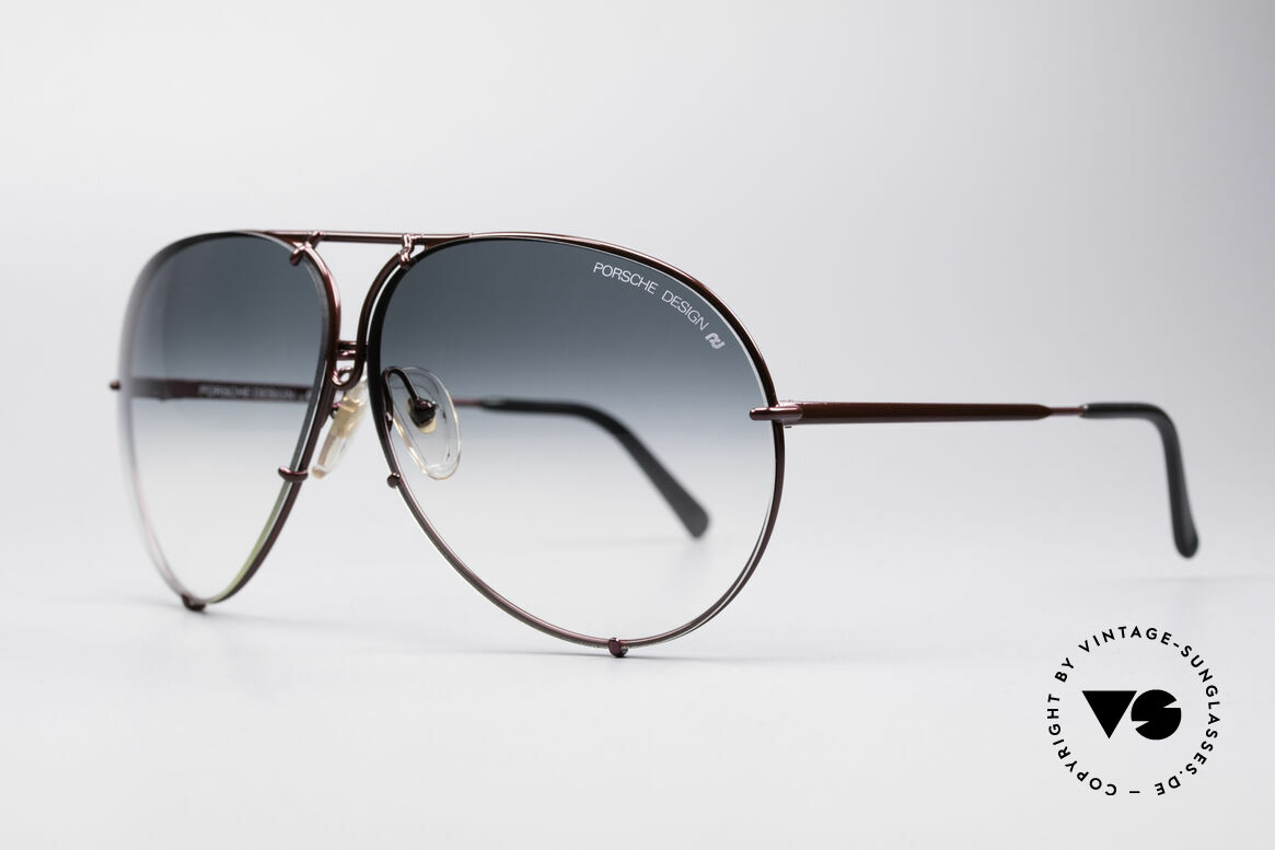 Porsche 5621 XL 80er Piloten Sonnenbrille, die 80er Legende mit den auswechselbaren Gläsern, Passend für Herren und Damen