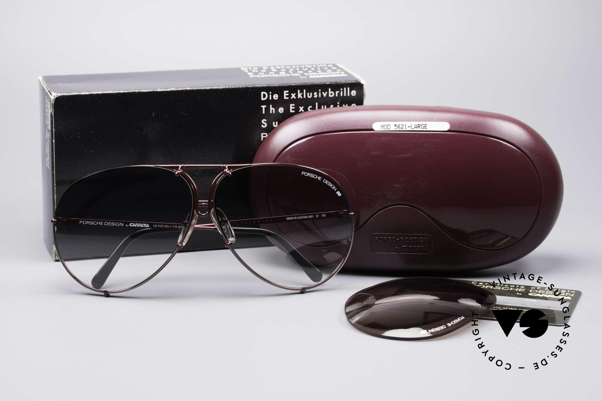 Porsche 5621 XL 80er Piloten Sonnenbrille, KEINE Retro-Sonnenbrille; sondern das alte Original, Passend für Herren und Damen