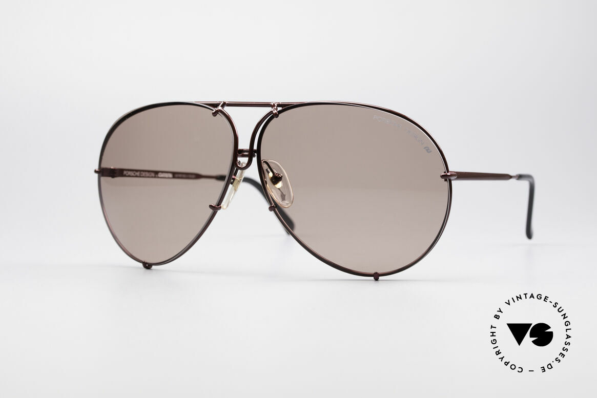 Porsche 5621 XL 80er Piloten Sonnenbrille, Modell 5623 = SMALL (kleine - eher medium Größe), Passend für Herren und Damen