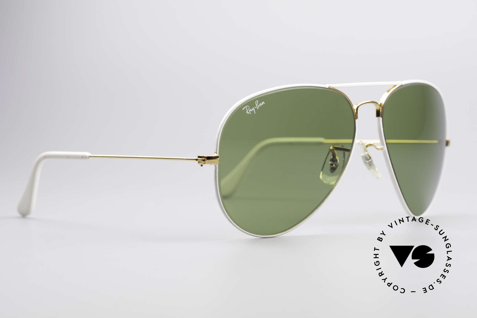 Ray Ban Large Metal II Flying Colors Limited Edition, produziert in den 1970ern & 80ern v. Bausch&Lomb, Passend für Herren