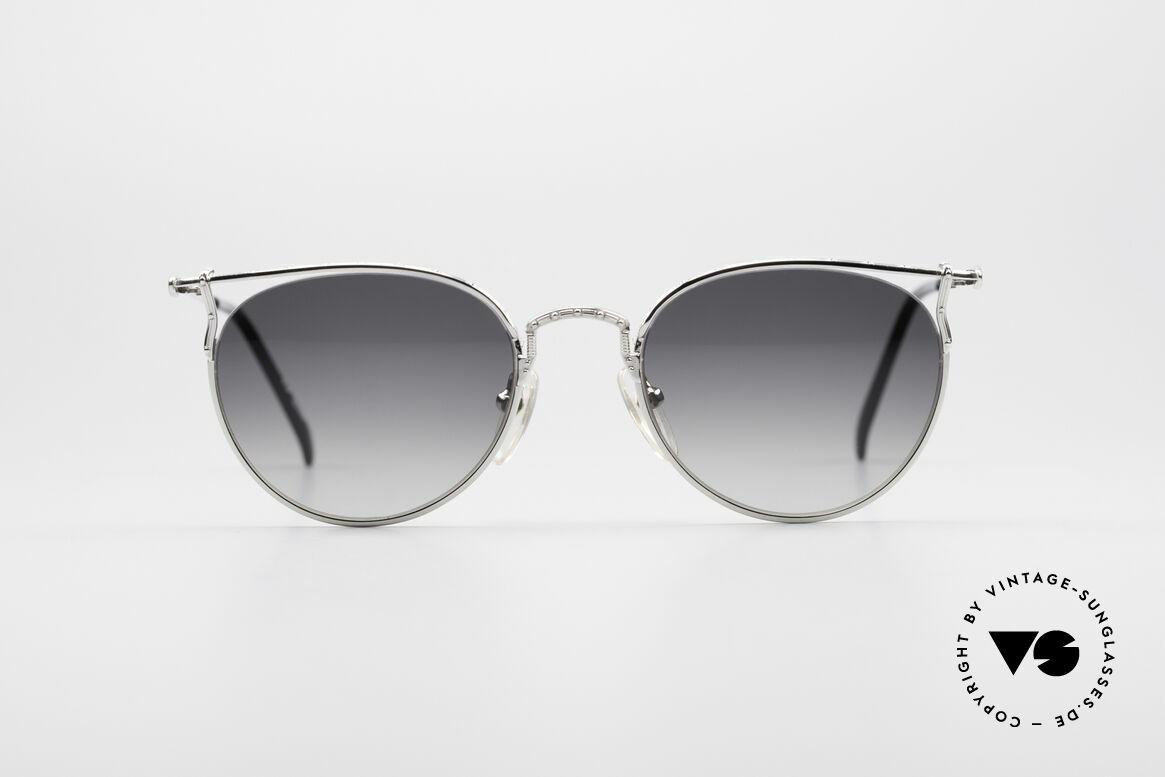 Jean Paul Gaultier 55-3177 Halb Randlose Vintage Brille, sehr leichtes Gestell & mit zahlreichen Details, Passend für Herren und Damen