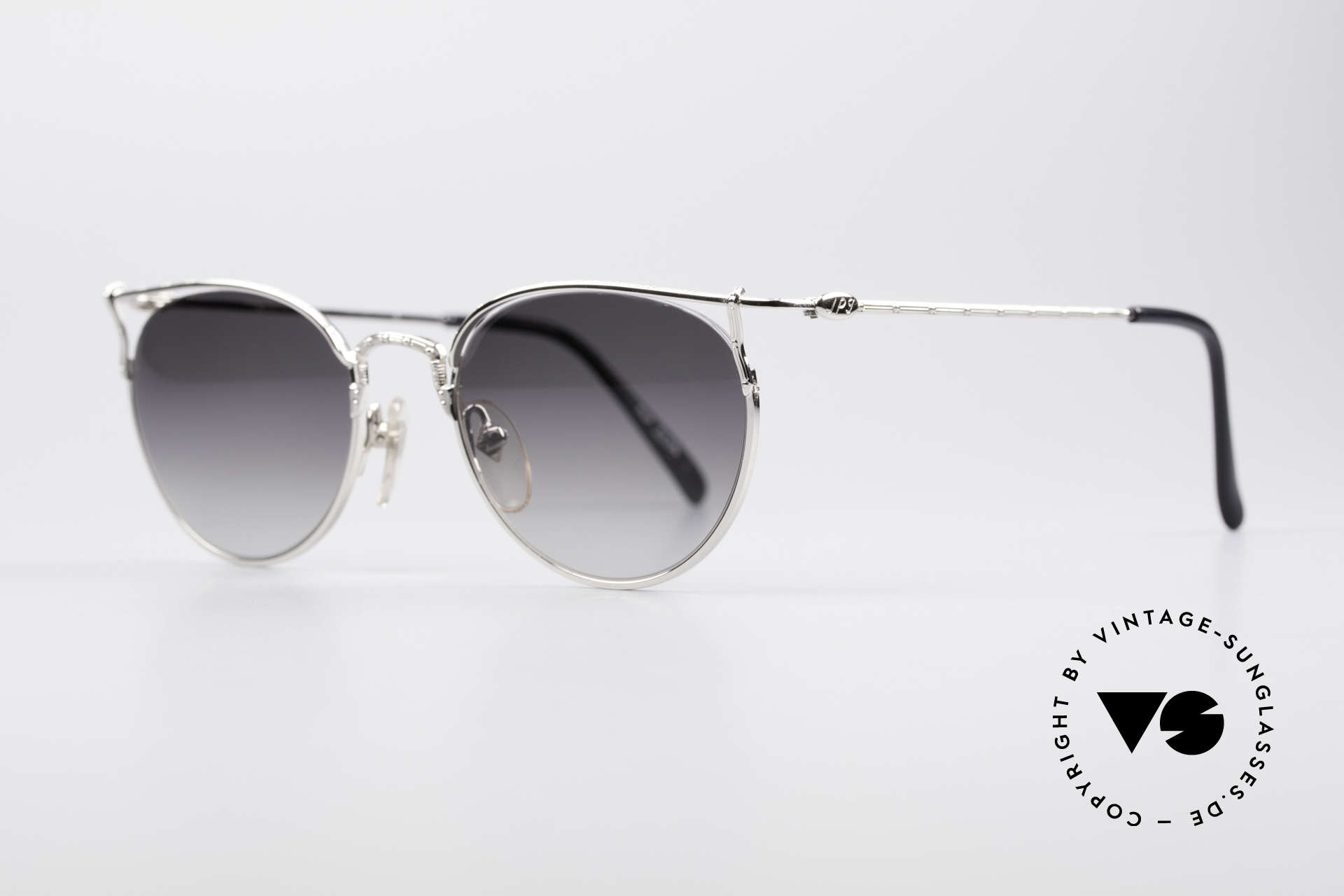 Jean Paul Gaultier 55-3177 Halb Randlose Vintage Brille, Rahmenkonstruktion mit randloser Glasfassung, Passend für Herren und Damen