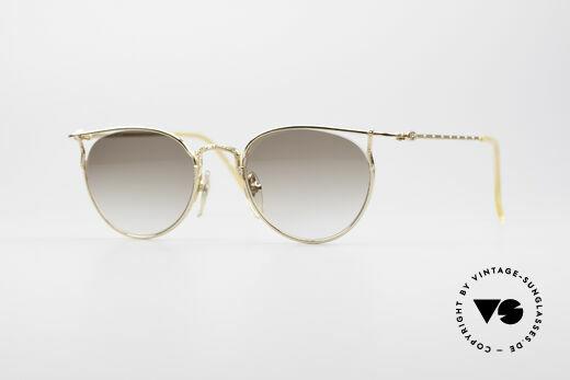 Jean Paul Gaultier 55-3177 Vergoldete Vintage Brille Details