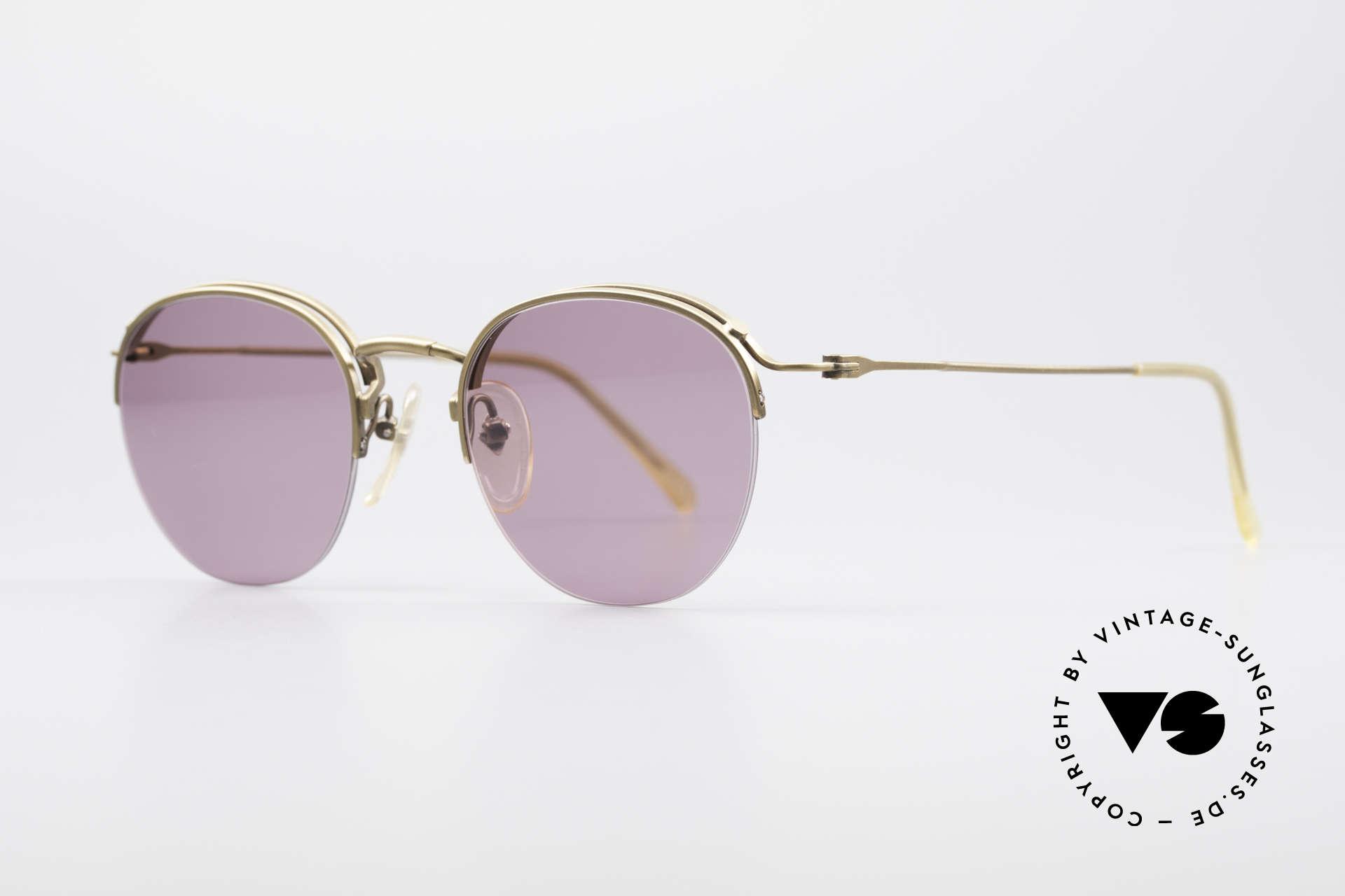 Jean Paul Gaultier 55-1172 True Vintage Sonnenbrille, Rahmenkonstruktion mit randloser Glasfassung, Passend für Herren und Damen