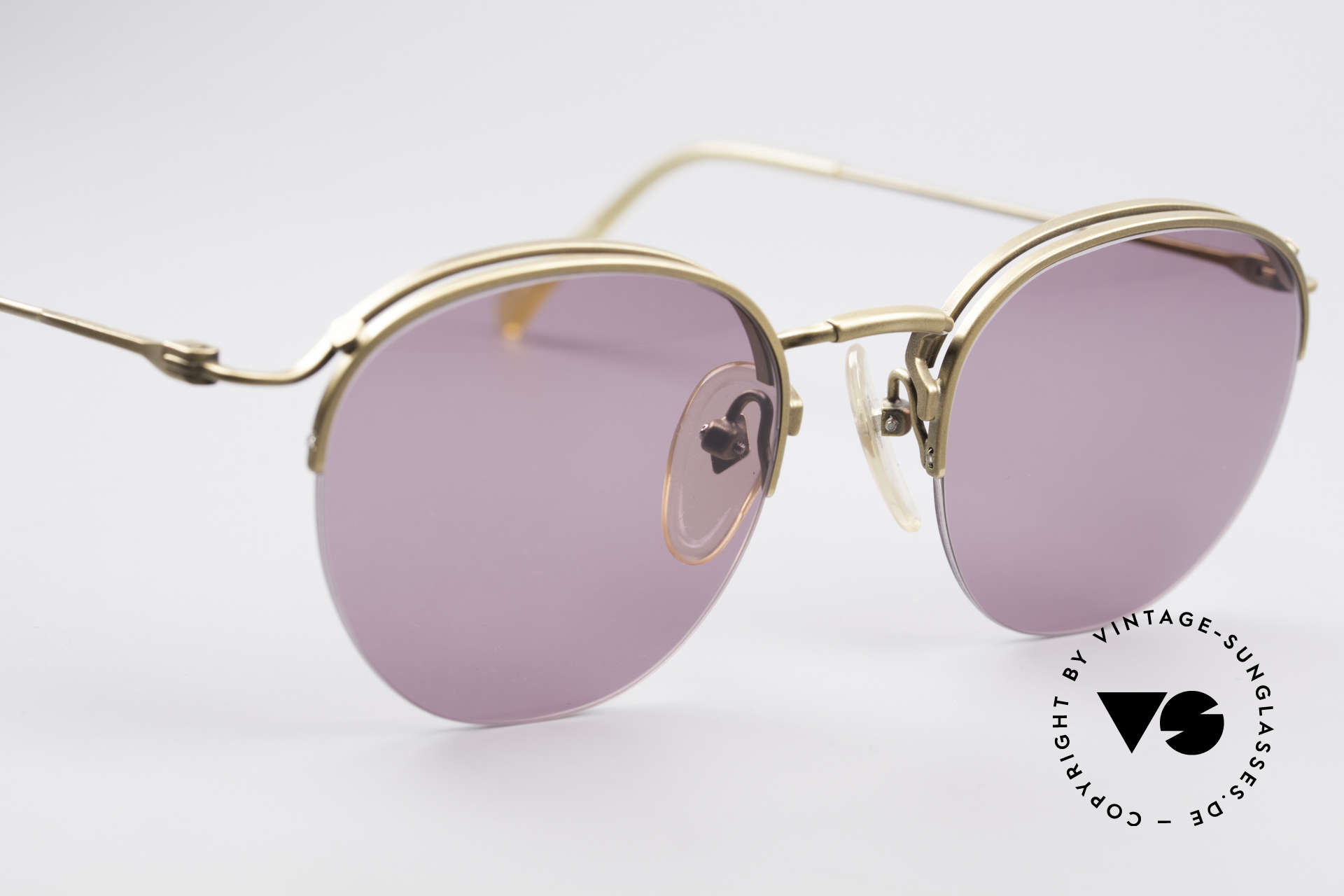 Jean Paul Gaultier 55-1172 True Vintage Sonnenbrille, toller Farbkontrast zwischen Gläsern & Rahmen, Passend für Herren und Damen