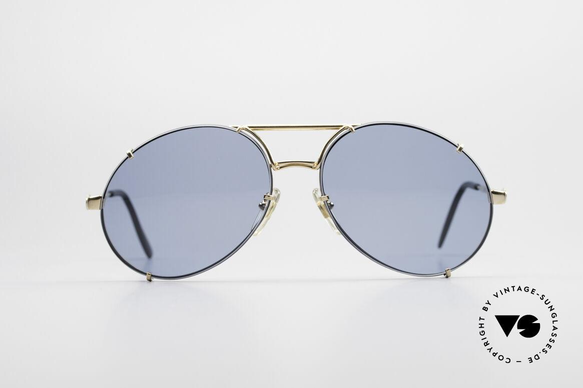 Bugatti 65822 XL Brille Mit Wechselgläsern, edle und hochwertige Bugatti vintage Sonnenbrille, Passend für Herren