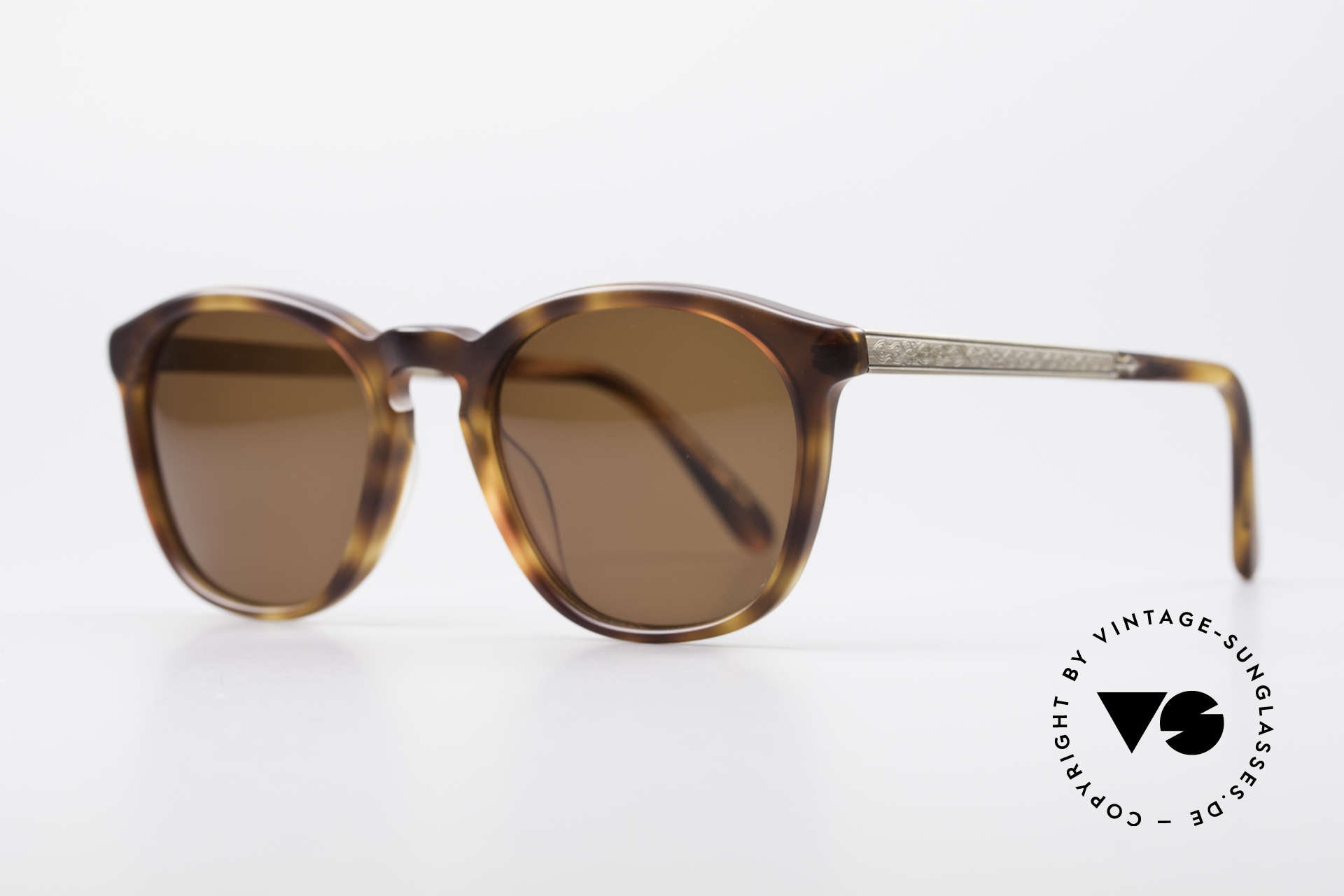 Matsuda 2816 90er Vintage Sonnenbrille, beide Bügel mit aufwändigen Gravuren versehen, Passend für Herren
