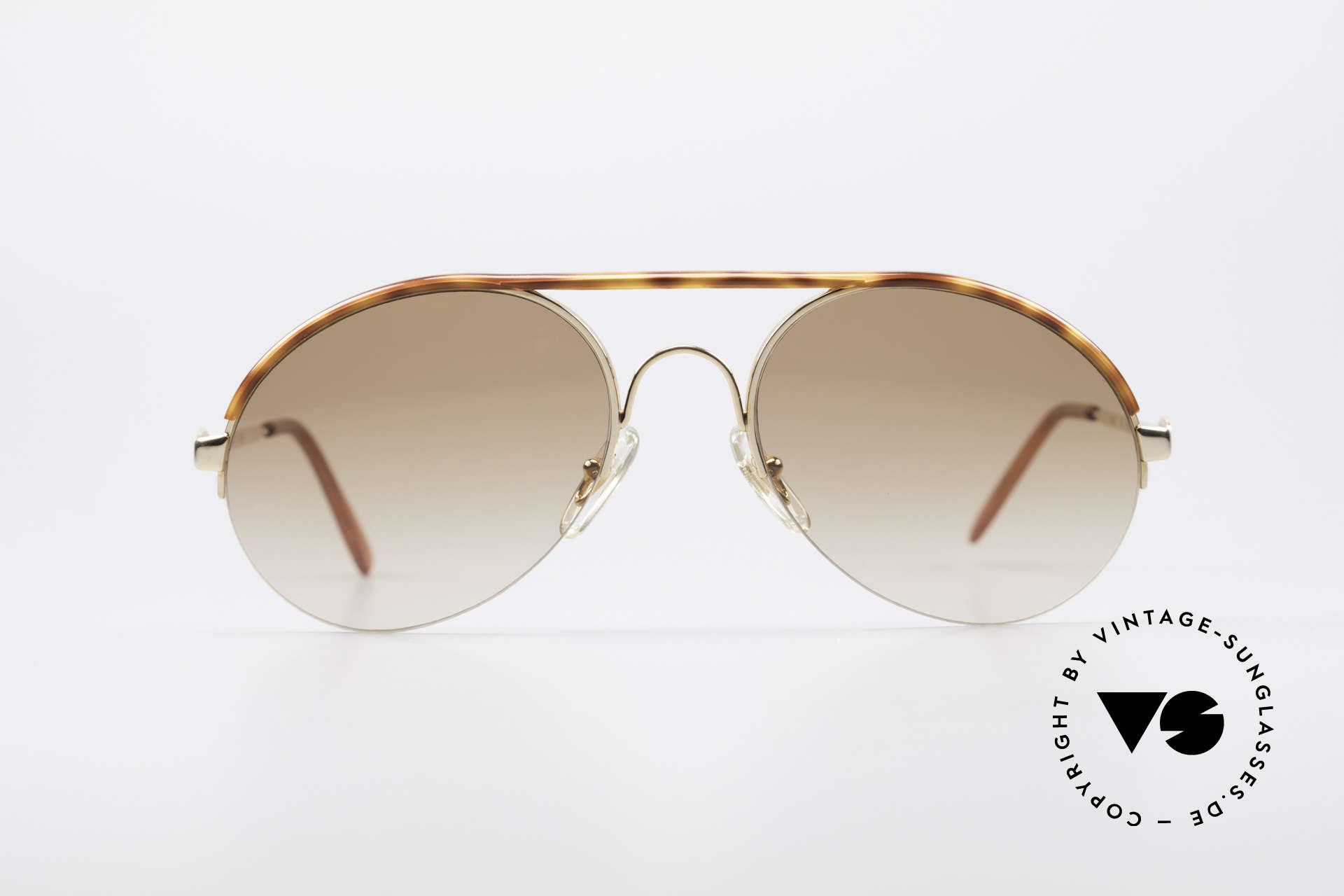 Bugatti 64919 Halb Rahmenlose Sonnenbrille, circa Anfang der 90er J. in Frankreich produziert, Passend für Herren