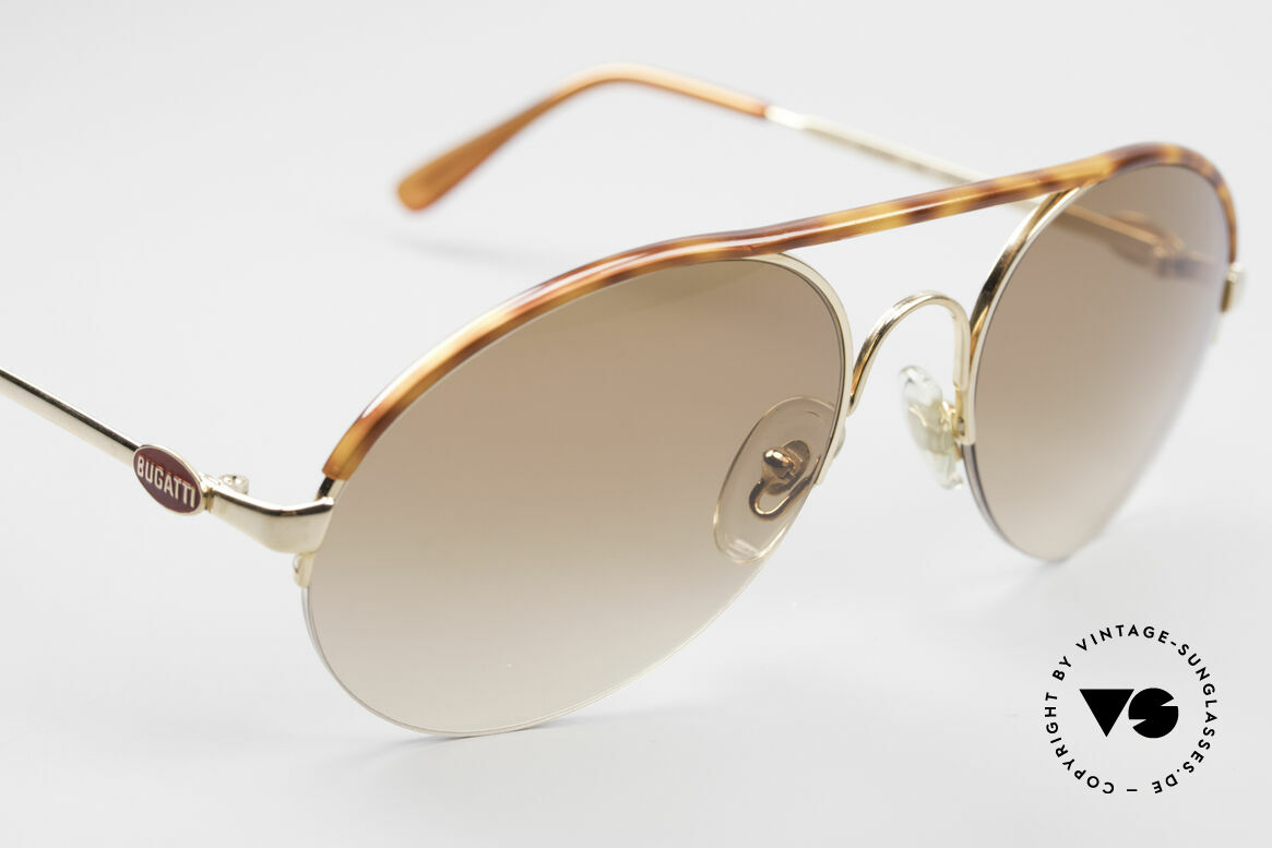 Bugatti 64919 Halb Rahmenlose Sonnenbrille, ein absoluter Klassiker mit halb-randloser Fassung, Passend für Herren