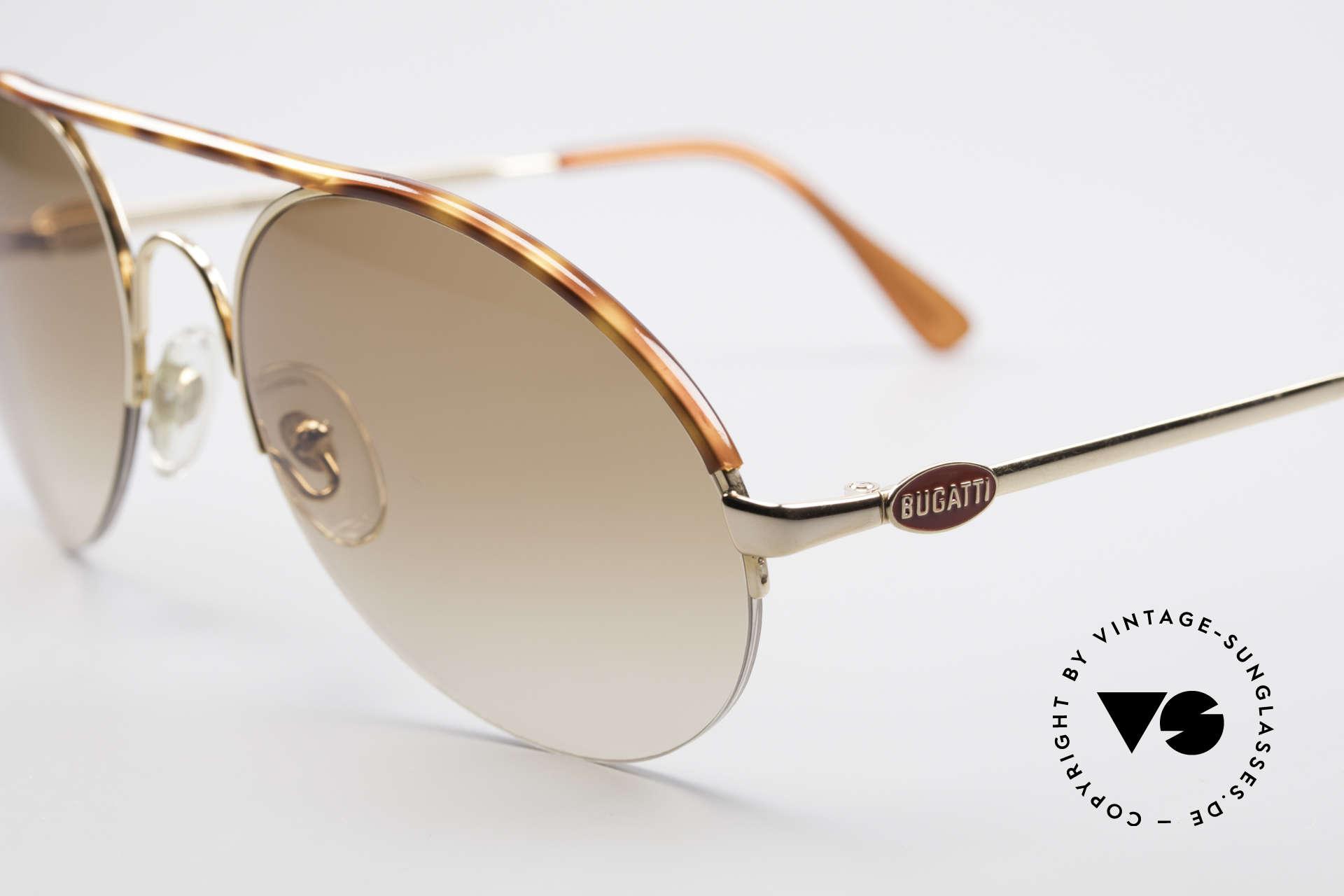 Bugatti 64919 Halb Rahmenlose Sonnenbrille, ungetragen (wie alle unsere Bugatti Sonnenbrillen), Passend für Herren