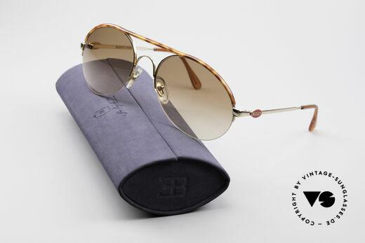 Bugatti 64919 Halb Rahmenlose Sonnenbrille, KEINE Retromode; ein mind. 25 Jahre altes Original, Passend für Herren