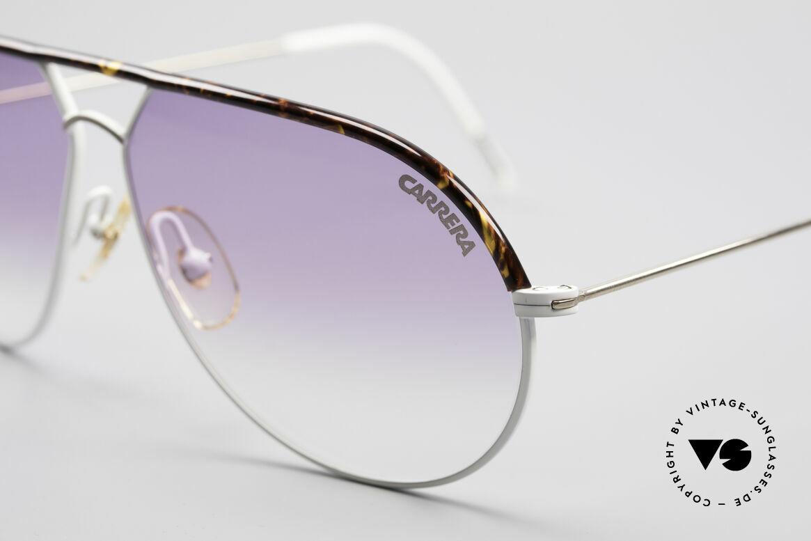 Carrera 5428 Rare Vintage Sonnenbrille, zudem kontrastreiche Gläser mit violetten Verlauf, Passend für Herren und Damen