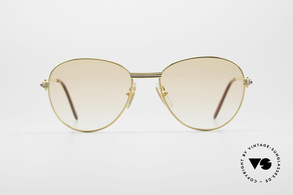 Cartier S Rubis 0,34 ct Echte Rubinen Sonnenbrille