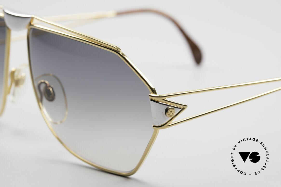 St. Moritz 403 80er Jupiter Sonnenbrille, enorm hochwertig (vergoldet und in Wurzelholz-Optik), Passend für Herren