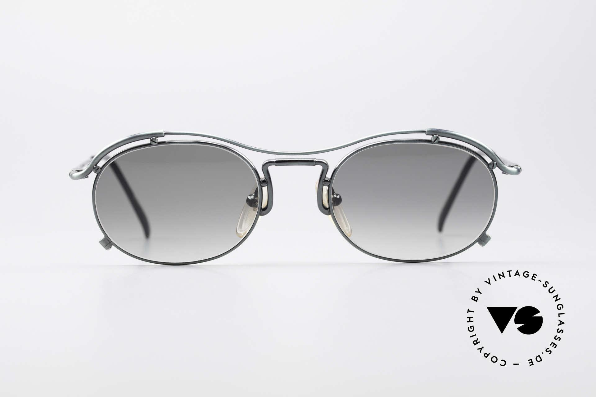 Jean Paul Gaultier 55-2170 Vintage 90er Sonnenbrille, schwungvolle Rahmenkonstruktion; ein Hingucker!, Passend für Herren und Damen