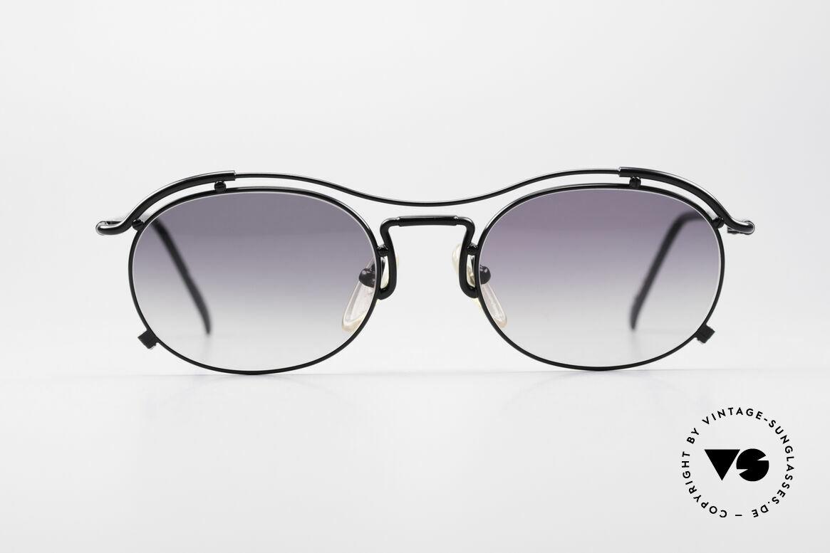 Jean Paul Gaultier 55-2170 Vintage JPG Sonnenbrille, schwungvolle Rahmenkonstruktion; ein Hingucker!, Passend für Herren und Damen