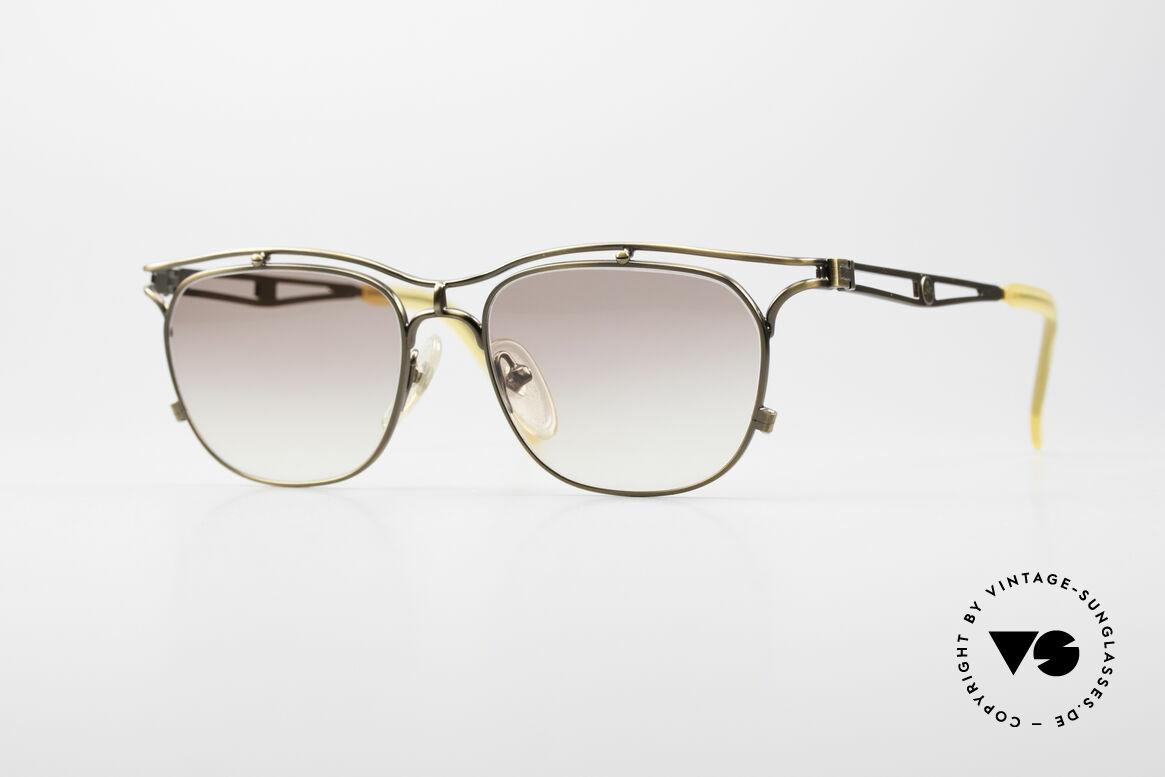 Jean Paul Gaultier 55-2178 Vintage JPG Designerbrille, sehr edle 90er Designersonnenbrille von Gaultier, Passend für Herren und Damen