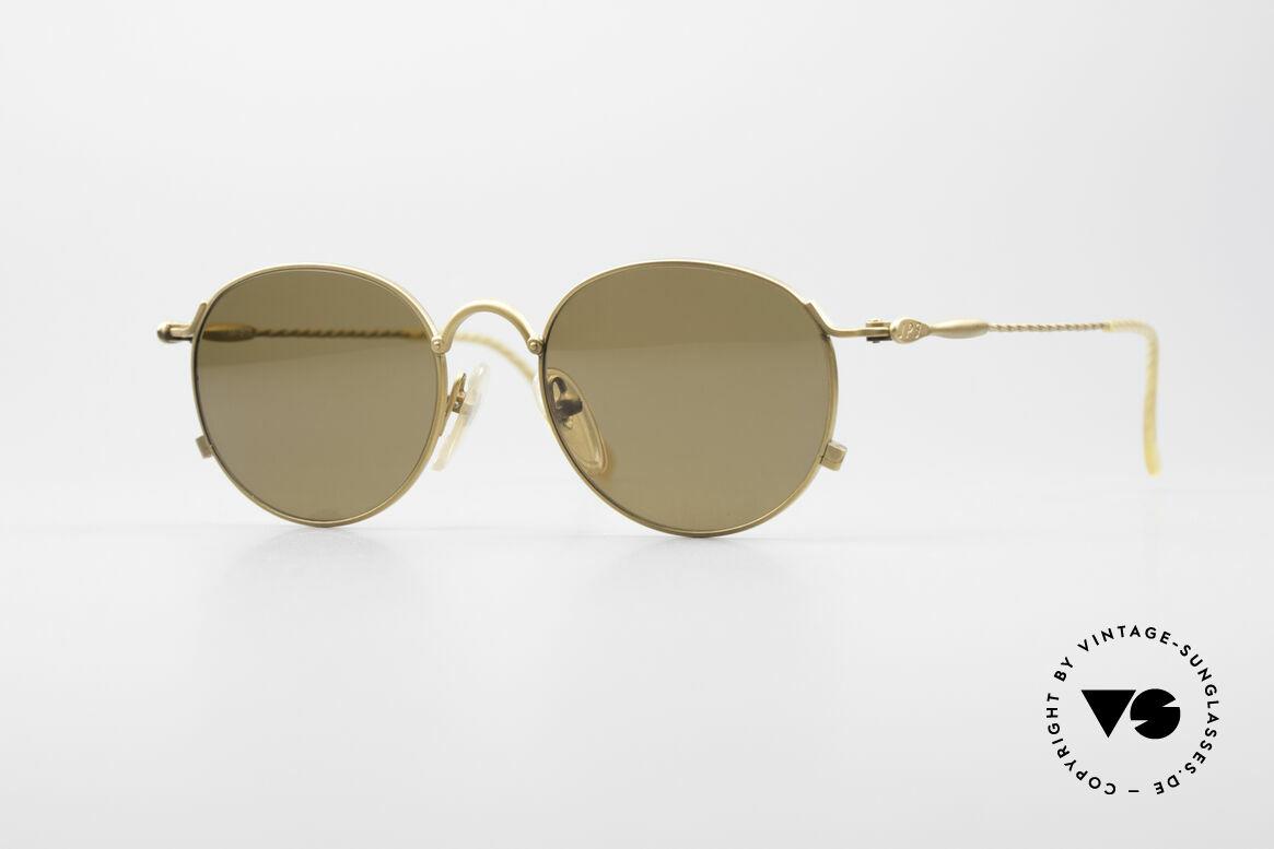 Jean Paul Gaultier 55-2172 Runde Vintage Sonnenbrille, filigrane vintage Sonnenbrille von J.P.Gaultier, Passend für Herren und Damen