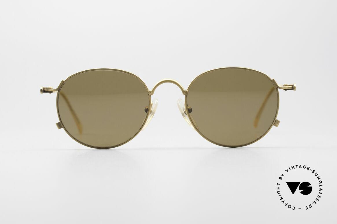 Jean Paul Gaultier 55-2172 Runde Vintage Sonnenbrille, sehr dekorative, gedrehte Bügel (wie ein Tau), Passend für Herren und Damen