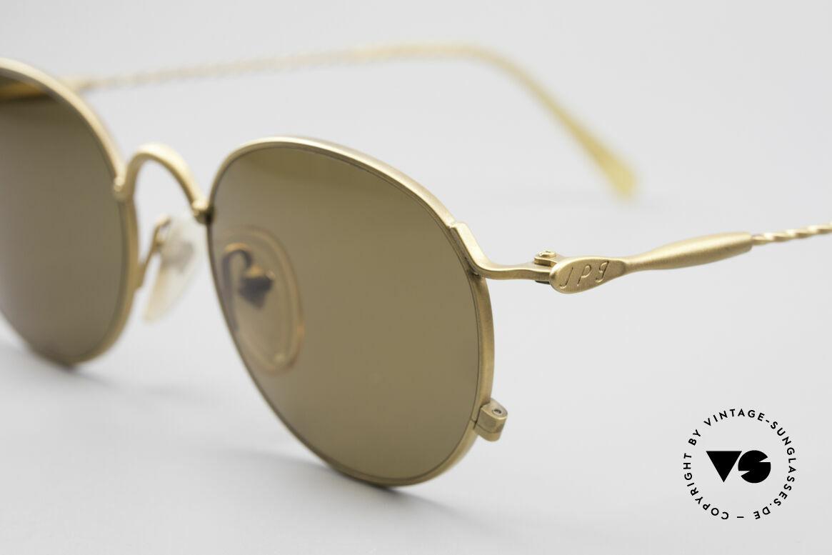 Jean Paul Gaultier 55-2172 Runde Vintage Sonnenbrille, braune CR39 Sonnengläser (für 100% UV Schutz), Passend für Herren und Damen