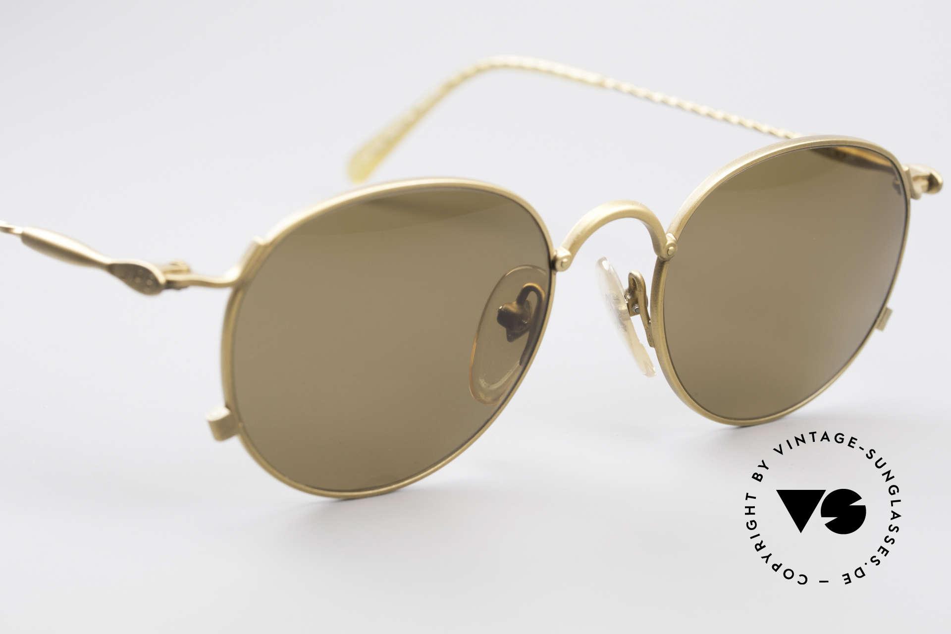 Jean Paul Gaultier 55-2172 Runde Vintage Sonnenbrille, unbenutzt (wie alle unsere J.P.G. Designerstücke), Passend für Herren und Damen