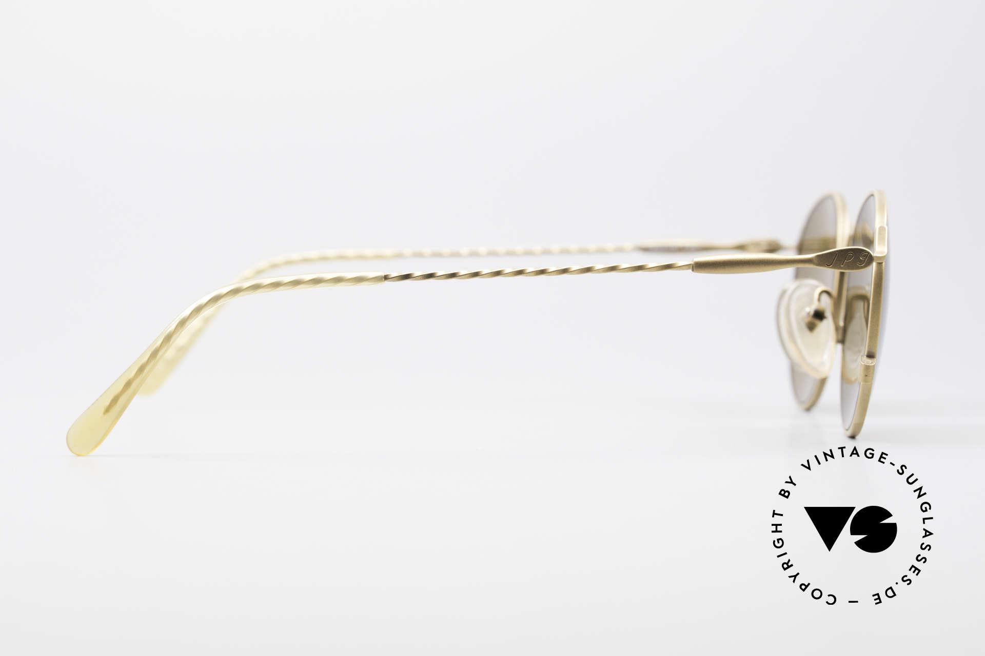 Jean Paul Gaultier 55-2172 Runde Vintage Sonnenbrille, KEINE Retrobrille, sondern 100% vintage Original, Passend für Herren und Damen