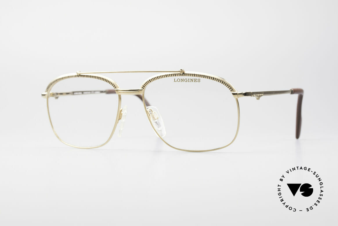 Longines 0172 80er Luxus Brillenfassung, sehr edle LONGINES vintage Brillengestell der 1980er, Passend für Herren
