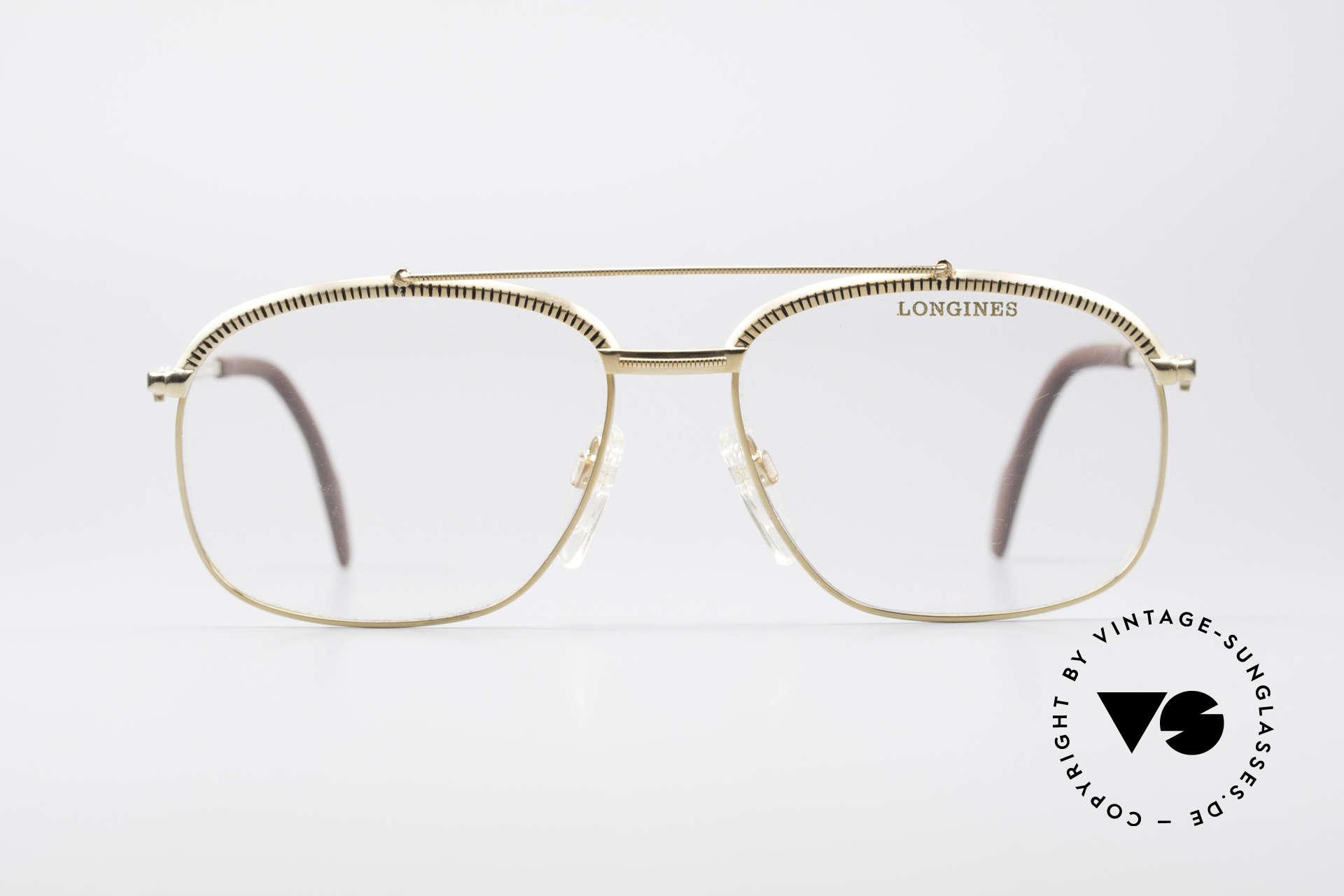 Longines 0172 80er Luxus Brillenfassung, enorme Fertigungsqualität; vergoldete Metallfassung, Passend für Herren