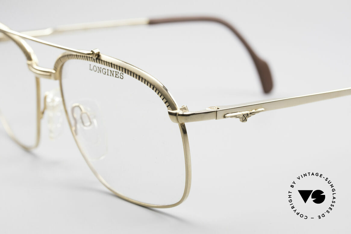 Longines 0172 80er Luxus Brillenfassung, KEINE Retromode; ein circa 30 Jahre altes ORIGINAL!, Passend für Herren