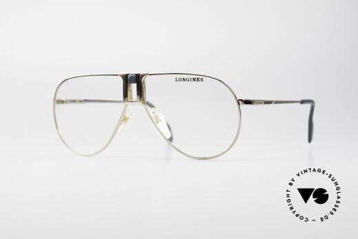 Longines 0154 Echte 80er Aviator Brille Details