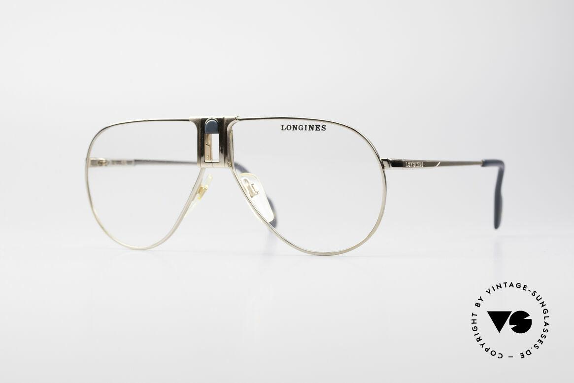 """Longines 0154 Echte 80er Aviator Brille, hochwertige vintage LONGINES """"Aviator""""-Fassung, Passend für Herren"""
