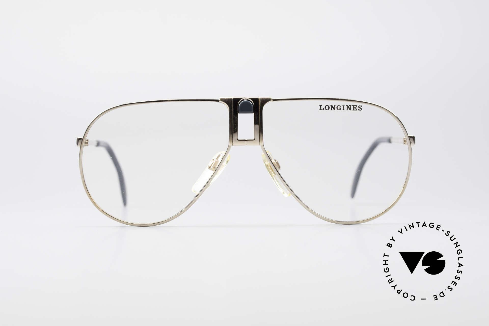 Longines 0154 Echte 80er Aviator Brille, sehr edler Rahmen mit Federscharnieren by Metzler, Passend für Herren