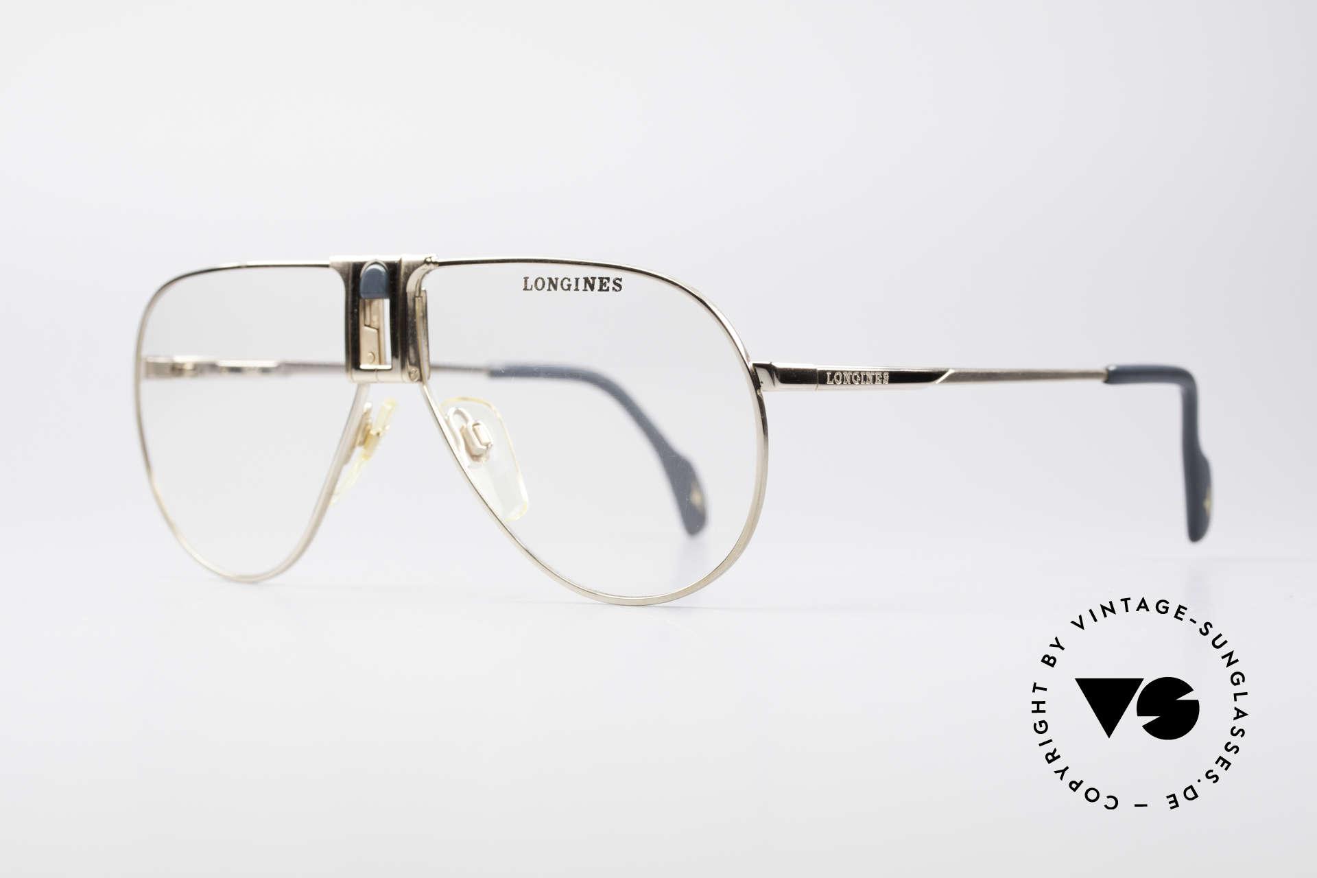 Longines 0154 Echte 80er Aviator Brille, vintage Luxusbrille for Gentlemen; purer Lifestyle!, Passend für Herren